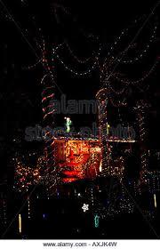 house garden decorated christmas lights stock photos u0026 house