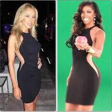what type of hair does porsha stewart wear real vs steal porsha stewart lisa hochstein s illusion dresses