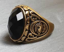 metal stone rings images New arrival stainless steel indian evil eye ring big round black jpg