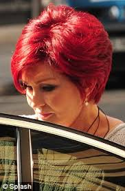 sharon osbournes haircolor sharon osbourne stands out from the lunch crowd with her bright