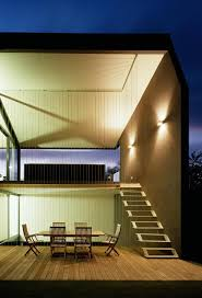 house with portico and indoor terraces