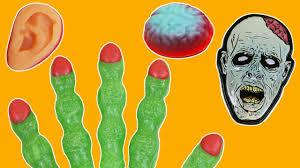 spooky halloween zombie finger lollipops u0026 body parts gummy candy