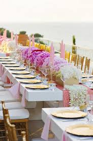 Gold Table Centerpieces by Fabulous Long Wedding Tables Belle The Magazine