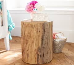 Tree Stump Side Table Collection In Tree Stump Nightstand Stump Side Table Pottery Barn