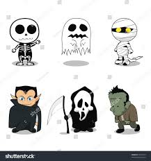 cute ghost costumes halloween party stock vector 93570415