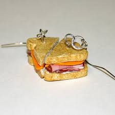 food earrings cool sandwich earrings for food geeks techeblog