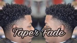 Temp Fade Haircut With Curls How To Taper Fade Curly Top Youtube