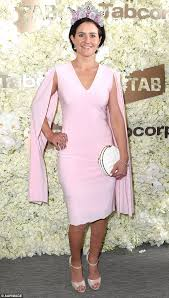 melbourne cup 2016 michelle payne wears a pink dress and metal