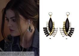 pretty liars earrings pretty liars season 5 episode 2 s black diamond fan