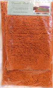 Microfiber Chenille Bath Rug Orange Bath Rug Roselawnlutheran