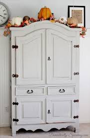 White Computer Armoire by Best 20 Armoire Redo Ideas On Pinterest Entertainment Center