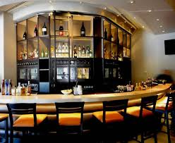 home bar decoration apartments modern round kitchen bar table design with granite