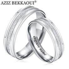 bluelans wedding band ring stainless steel matte ring engraved couples rings reviews shopping engraved couples