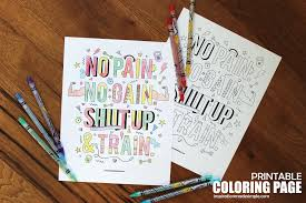 no pain no gain coloring page inspiration made simple