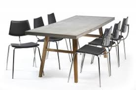 concrete top dining table contemporary dining tables and chairs from dan form trendy products