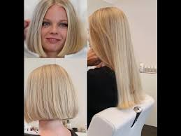 germany hair cuts long to bob makeover lady got her long hair cut short youtube