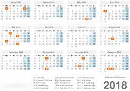 Kalender 2018 Hamburg Feiertage Kalender 2018 Mit Feiertagen