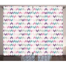Chevron Pattern Curtain Panels Chevron Purple Curtains U0026 Drapes You U0027ll Love Wayfair