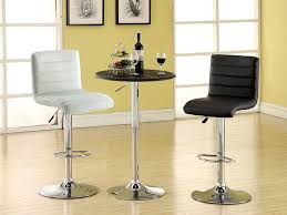 modern bar tables and stools amazon com furniture of america milano adjustable leatherette bar