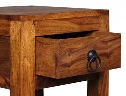 beistelltische echtholz massivholz beistelltisch telefontisch 30 x 30 x 65 cm mit schublade