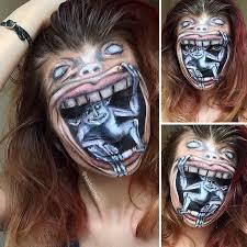 makeup artist scary makeover saida mickeviciute lithuania 9