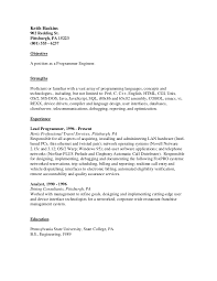 resume programmer programmer engineer resume template