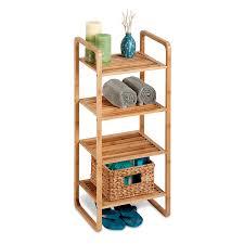 Bathroom Shelving Unit by Amazon Com Honey Can Do Shf 02099 4 Tier Natural Bamboo Accessory