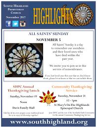 south highland presbyterian church highlights