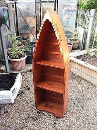 row boat book shelf maine house decor and resources for lake