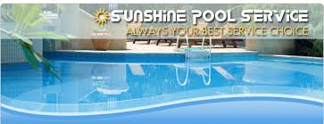 Sunshine Pool Service  Maintenance  Repair  CA