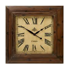 large square wooden clock