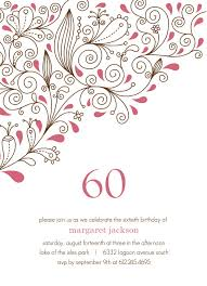 60 birthday celebration pink floral 60th birthday party invitation free invitations ideas
