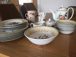 vintage country style dinner set in coleraine county