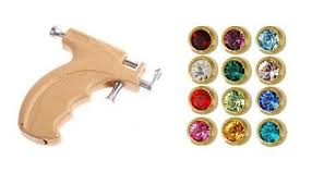 ear piercing studs gun kit mini gold 3mm ear piercing earrings studs 12