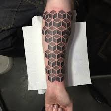 grey cubes tattoo on arm best tattoo ideas gallery
