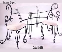 Wrought Iron Dining Table And Chairs Lovely Rod Iron Dining Chair Starlize Me