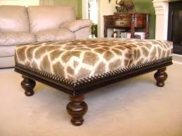 Animal Print Storage Ottoman Coffee Table Storage Ottoman Square Leather Tufted Coffee Table