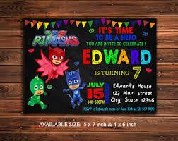 pj masks invitation pj masks birthday invitation pj masks