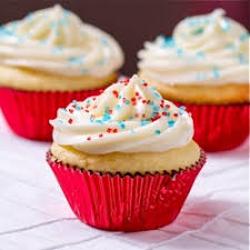 Blue Cupcakes With Sprinkles фото база