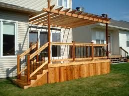 enchanting pergola attached to house and deck with pergola