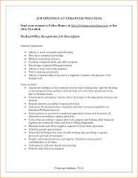 Medical Assistant Receptionist Resume Medical Office Resume Samples Resume Peppapp