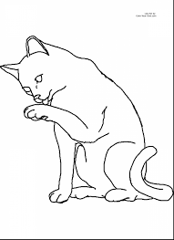 extraordinary cats clip art coloring pages with coloring pages