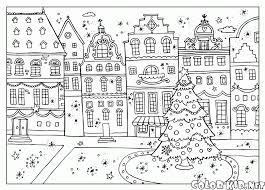 coloring page seasons winter