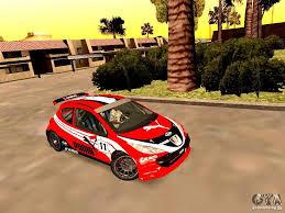 peugeot 207 rally peugeot 207 s2000 puma for gta san andreas