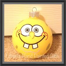 spongebob painted glass ornament 6 just ani