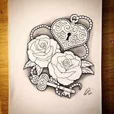 lock heart tattoo design on instagram