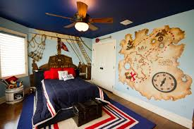 bedroom blue walls with roman shades and wall murals also boys bedroom themes with wall mural and blue