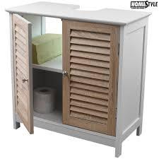 armadietto bagno mobile da bagno sotto lavabo legno mdf armadietto con 2 ante
