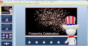 animated fireworks powerpoint template for celebration