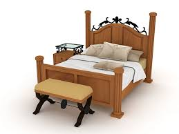 Iron Sleigh Bed Wood And Iron Sleigh Bed 3d Model 3ds Max Autocad Files Free